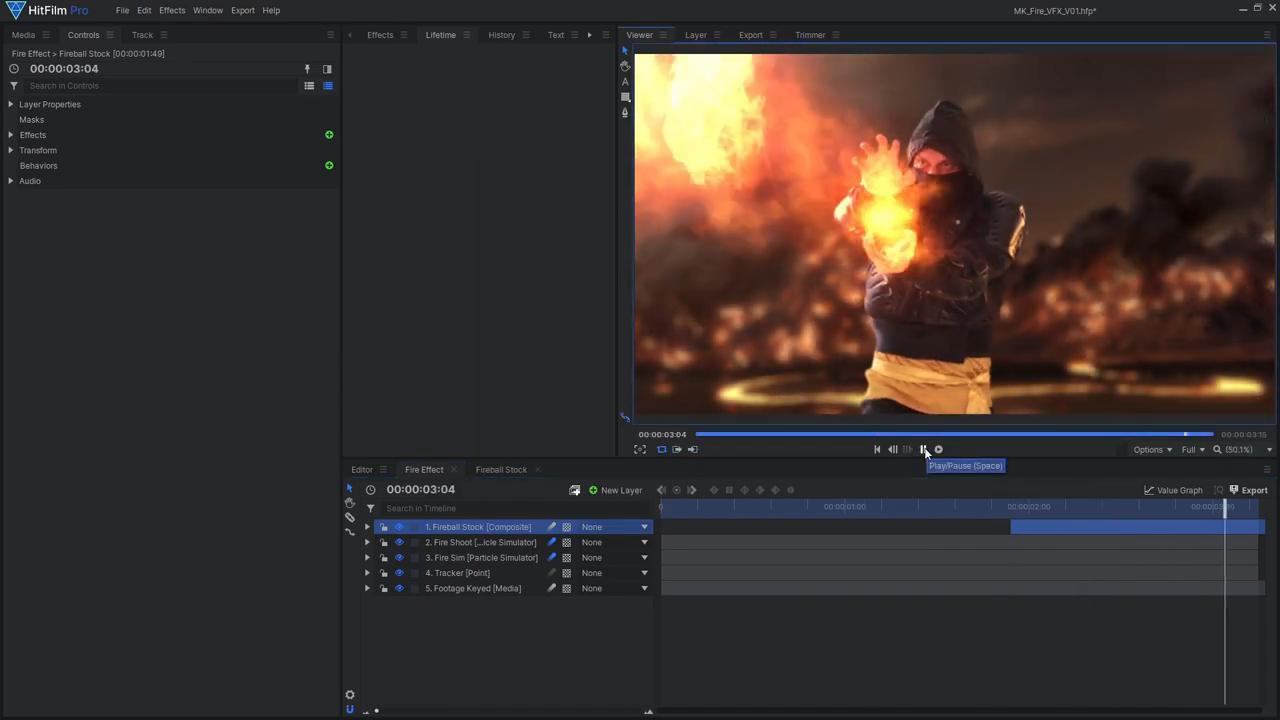 How to create Mortal Kombat's Scorpion fireball effects- using ActionVFX stock footage