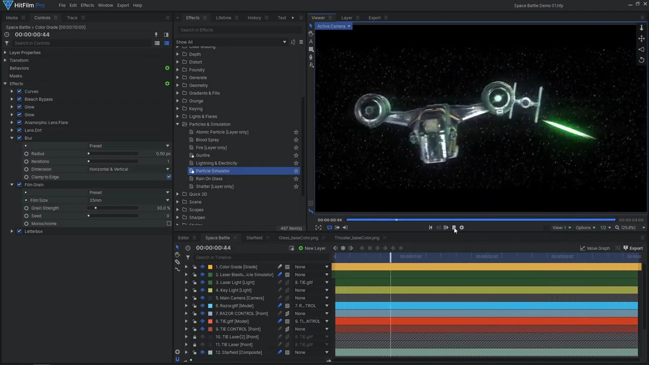 How to create Star Wars space battle VFX - the final color grade
