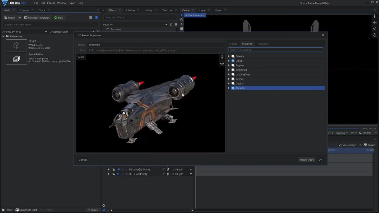 How to create Star Wars space battle VFX - Altering the Razor Crest