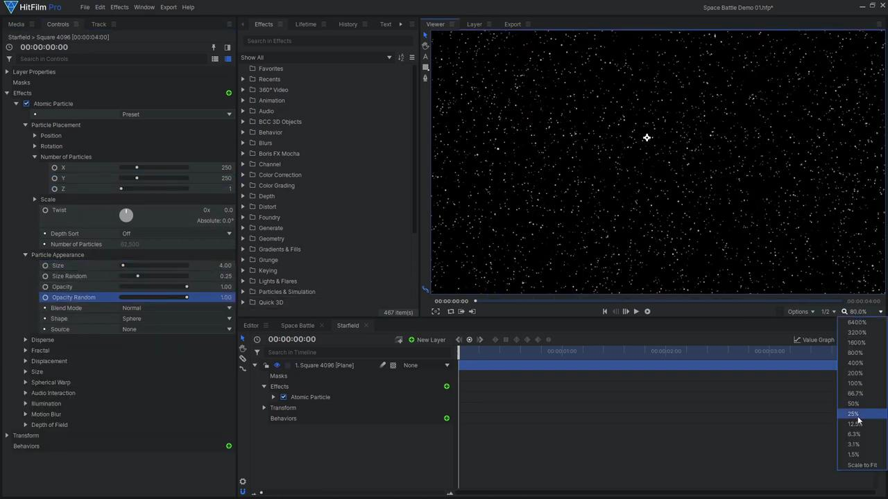How to create Star Wars space battle VFX - Creating a star field