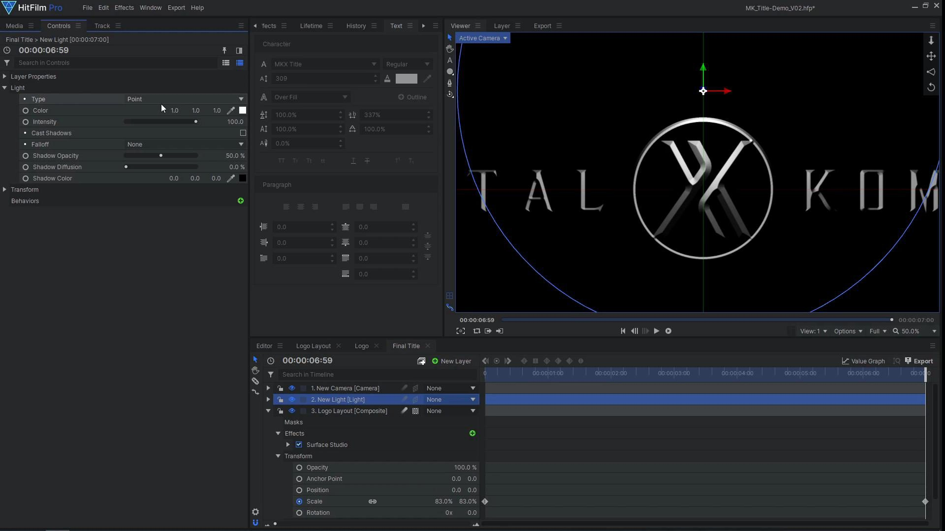 How to create a cinematic Mortal Kombat-style animated title - adding bevel detail