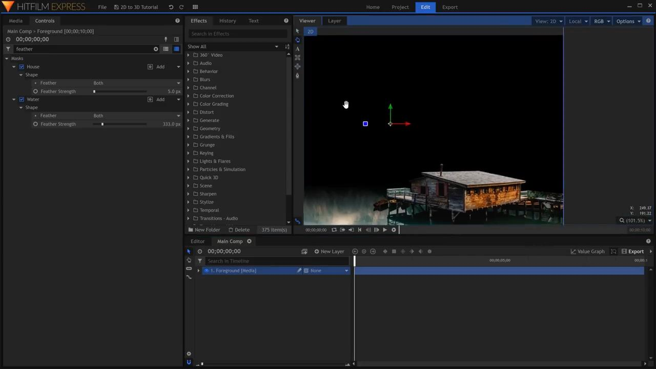 How to convert 2D images into 3D scenes - isolating the foreground
