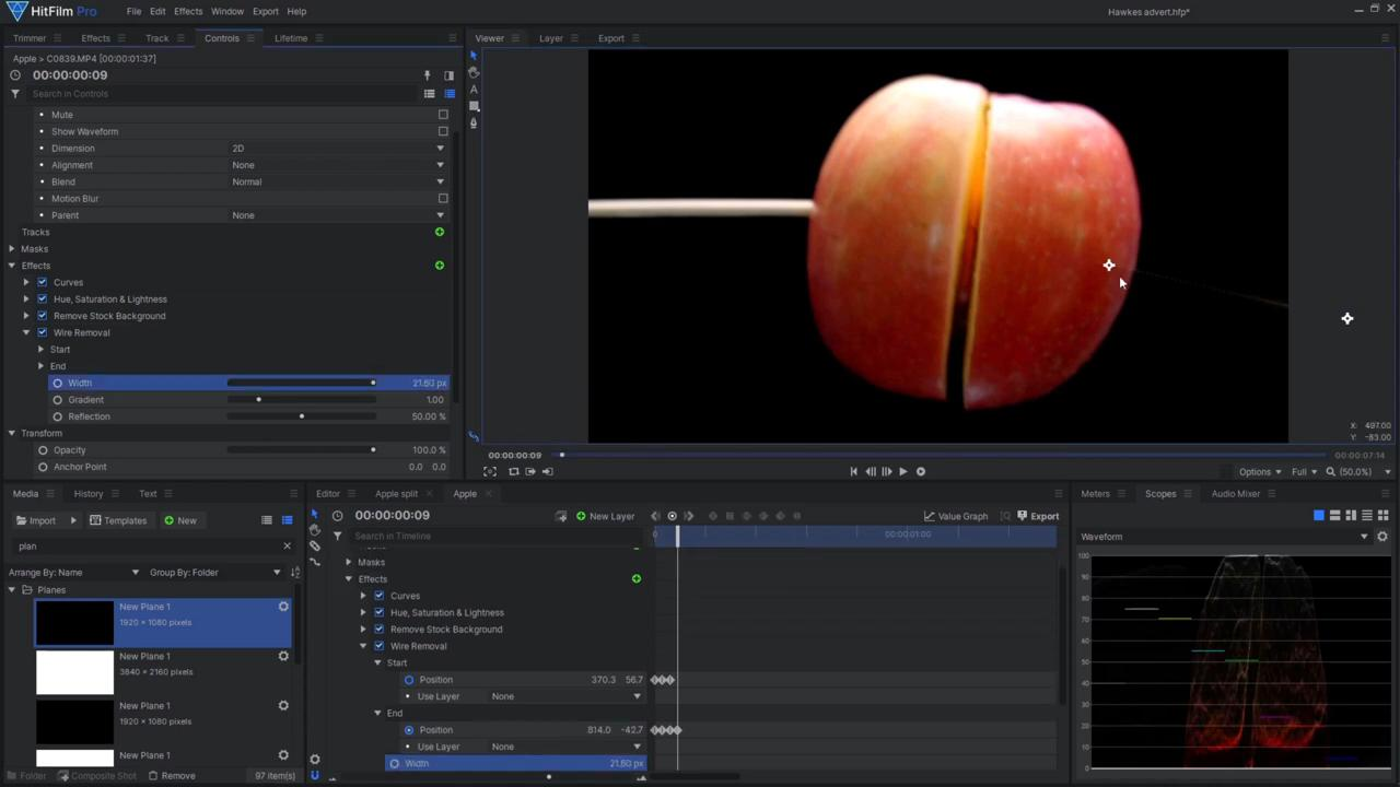 How to create an epic product advert - editing the separating apple effect