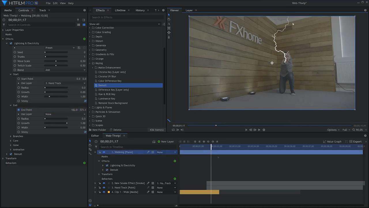 How to create the Spider-Man web shooter effect - using Lightning and Electricity effect