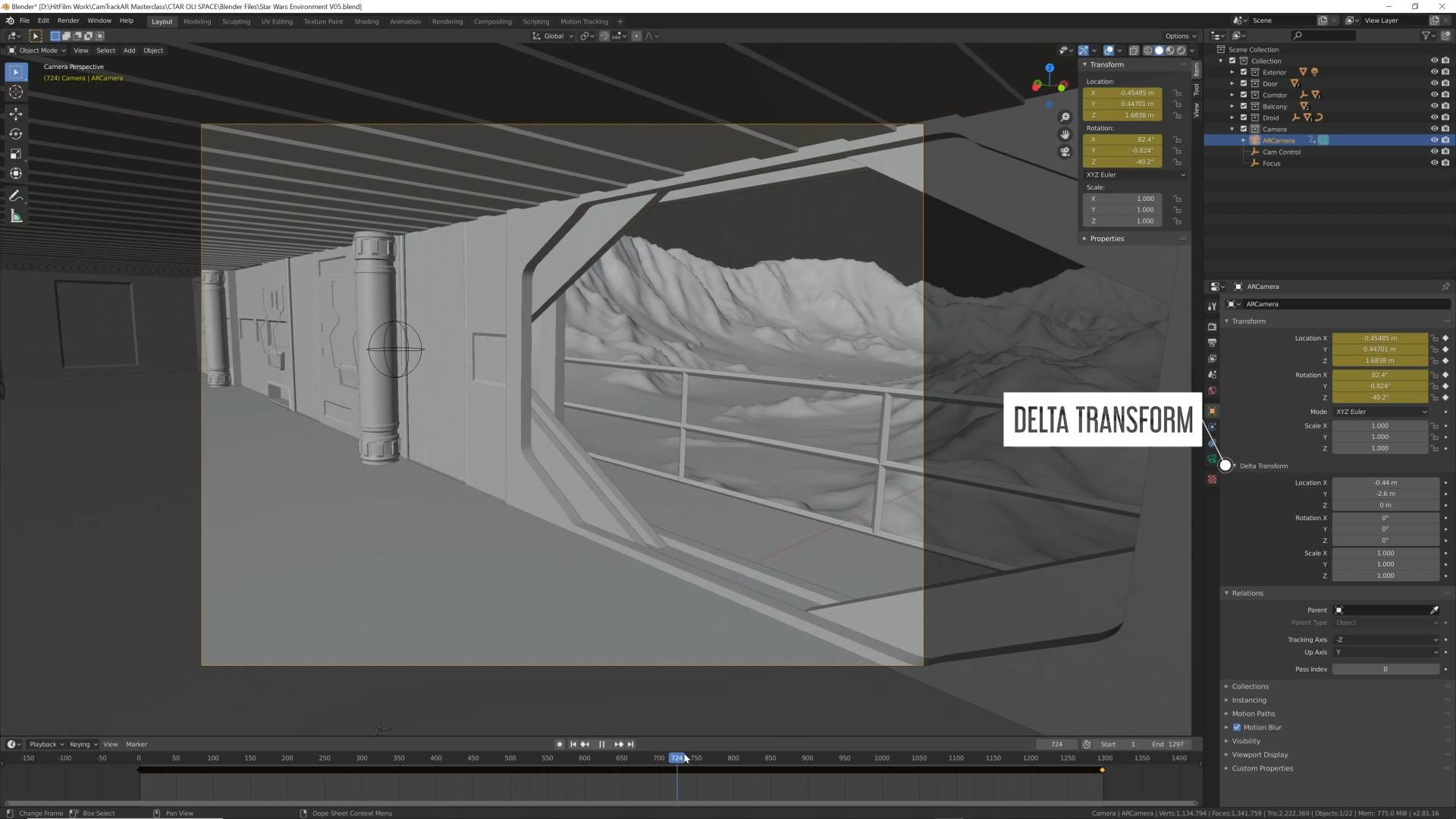 How to use CamTrackAR with Unreal Engine, Blender, and After Effects - Importing data to Blender