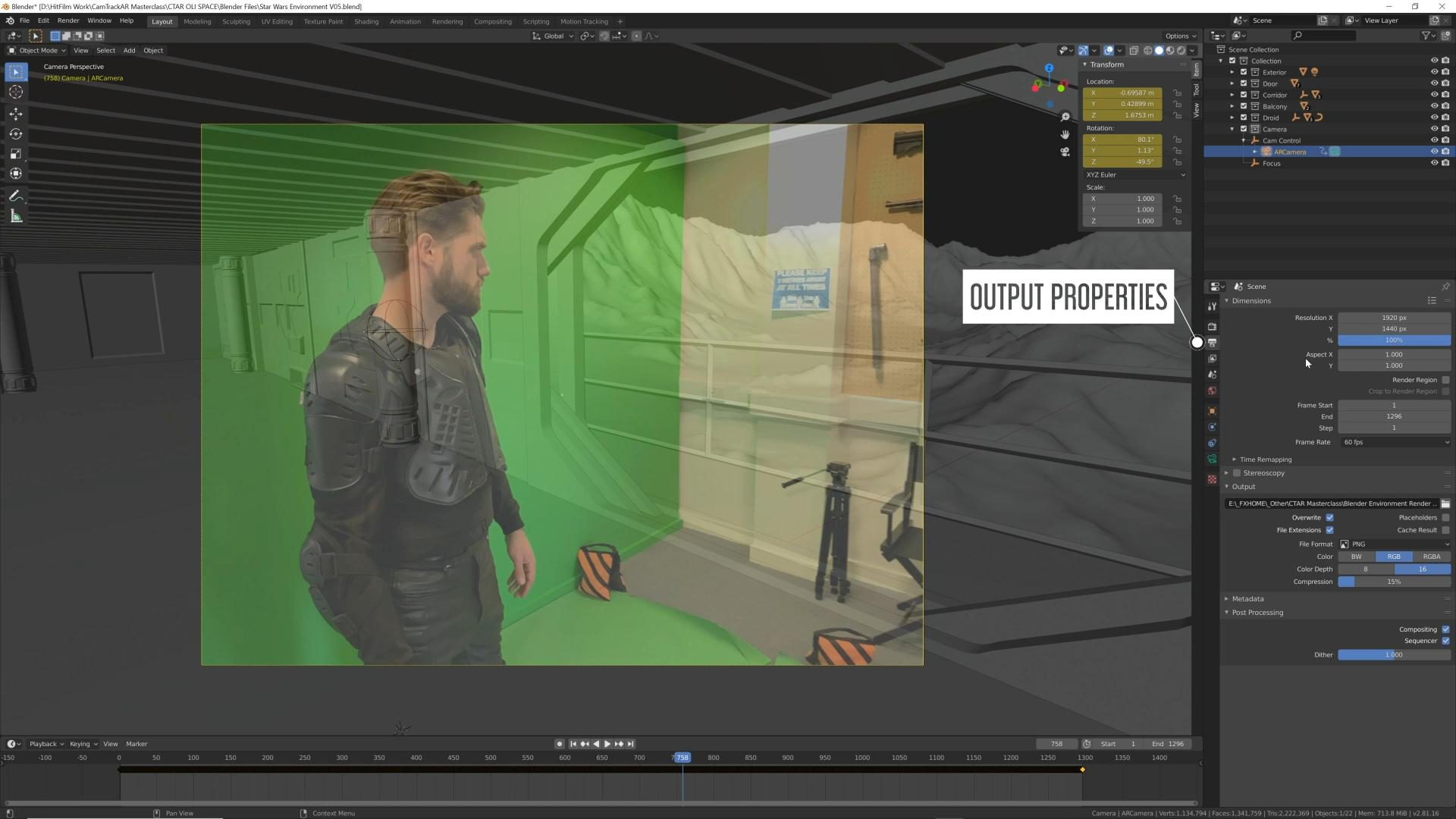 How to use CamTrackAR with Unreal Engine, Blender, and After Effects - Viewing footage in Blender