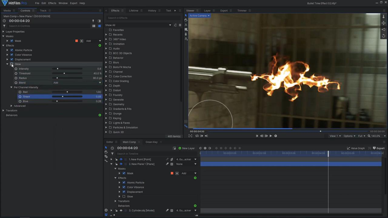 How to create a freeze time effect - Creating the muzzle flash