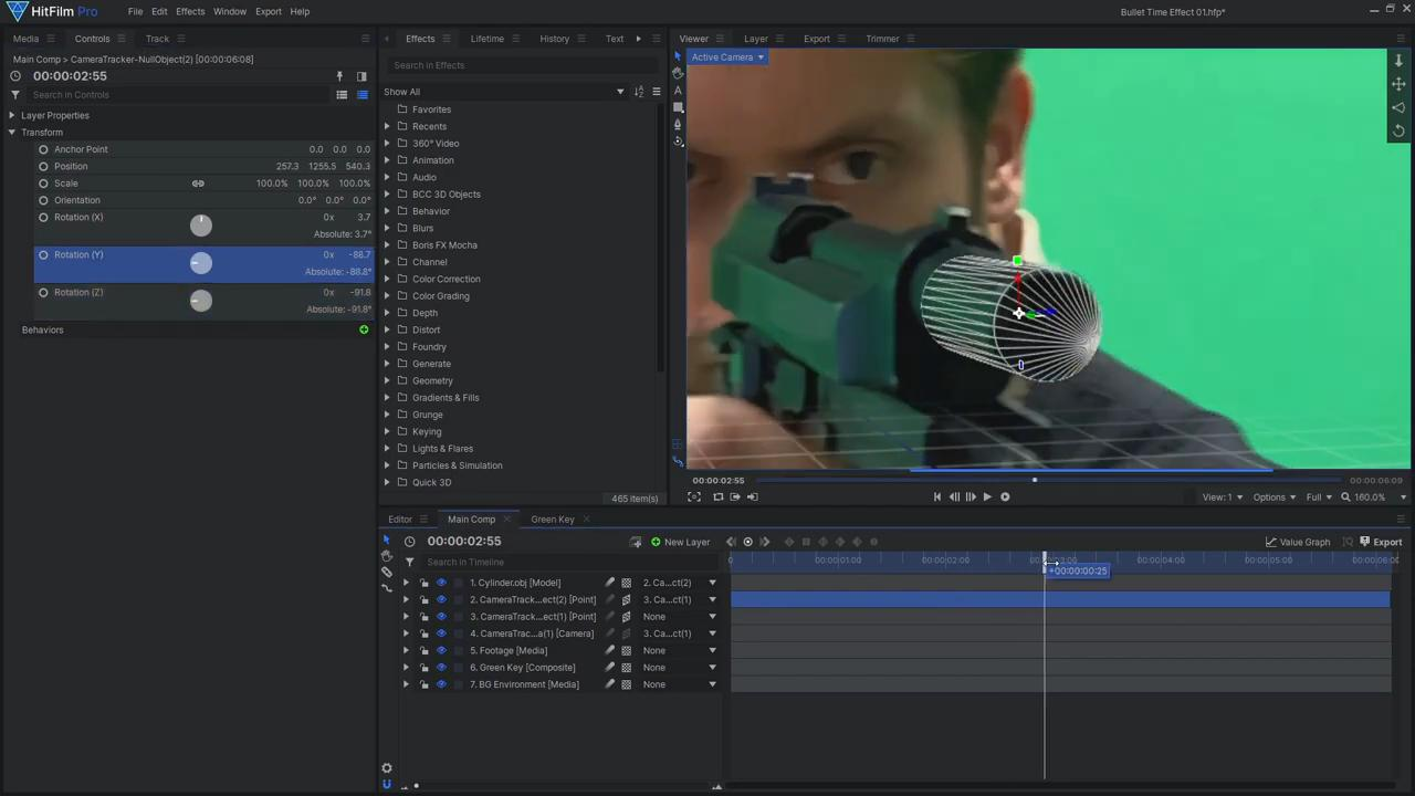 How to create a freeze time effect - Importing the 3D model
