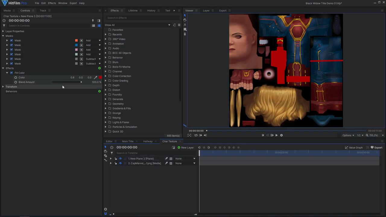 How to create an epic Black Widow inspired title sequence - altering the model's appearance