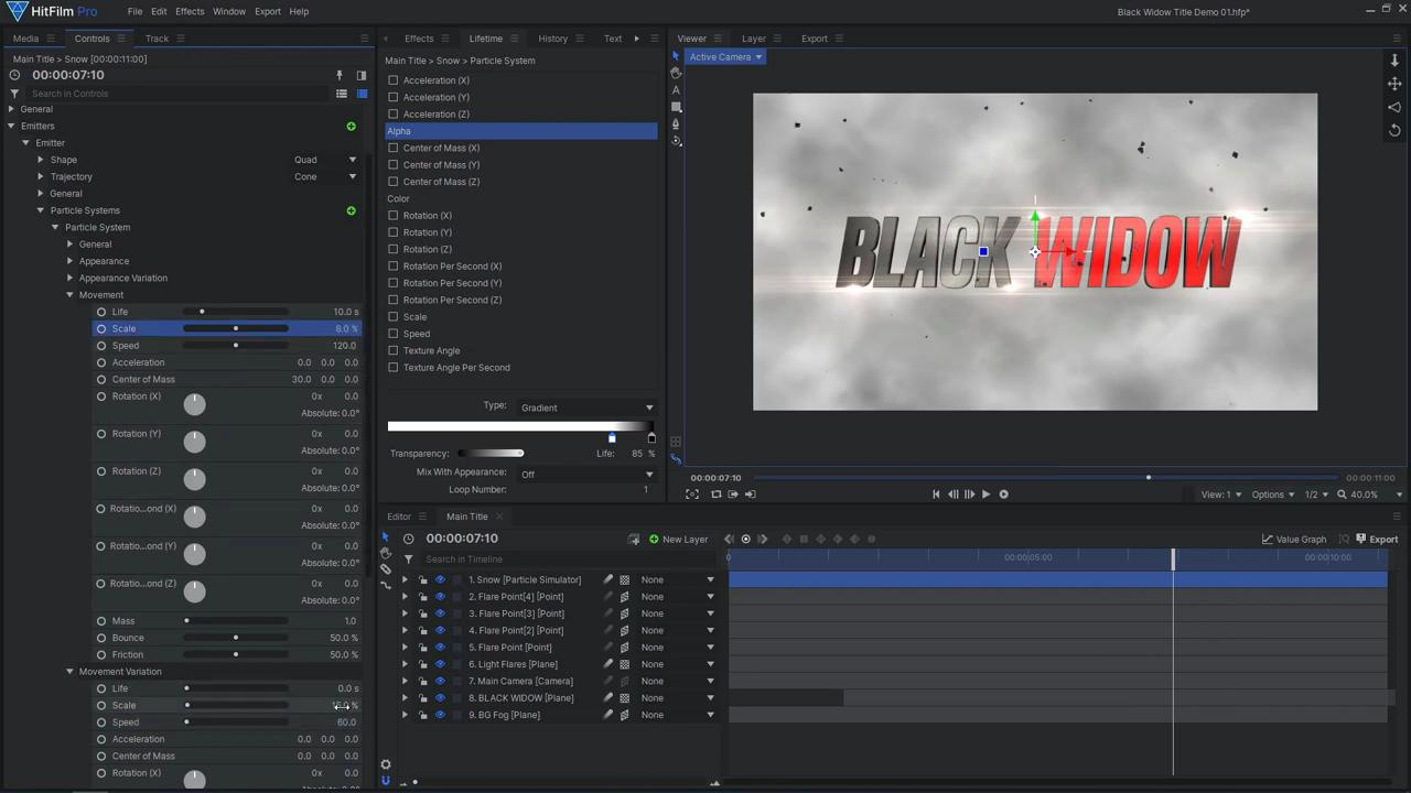 How to create an epic Black Widow inspired title sequence - adding fog and  ash effects