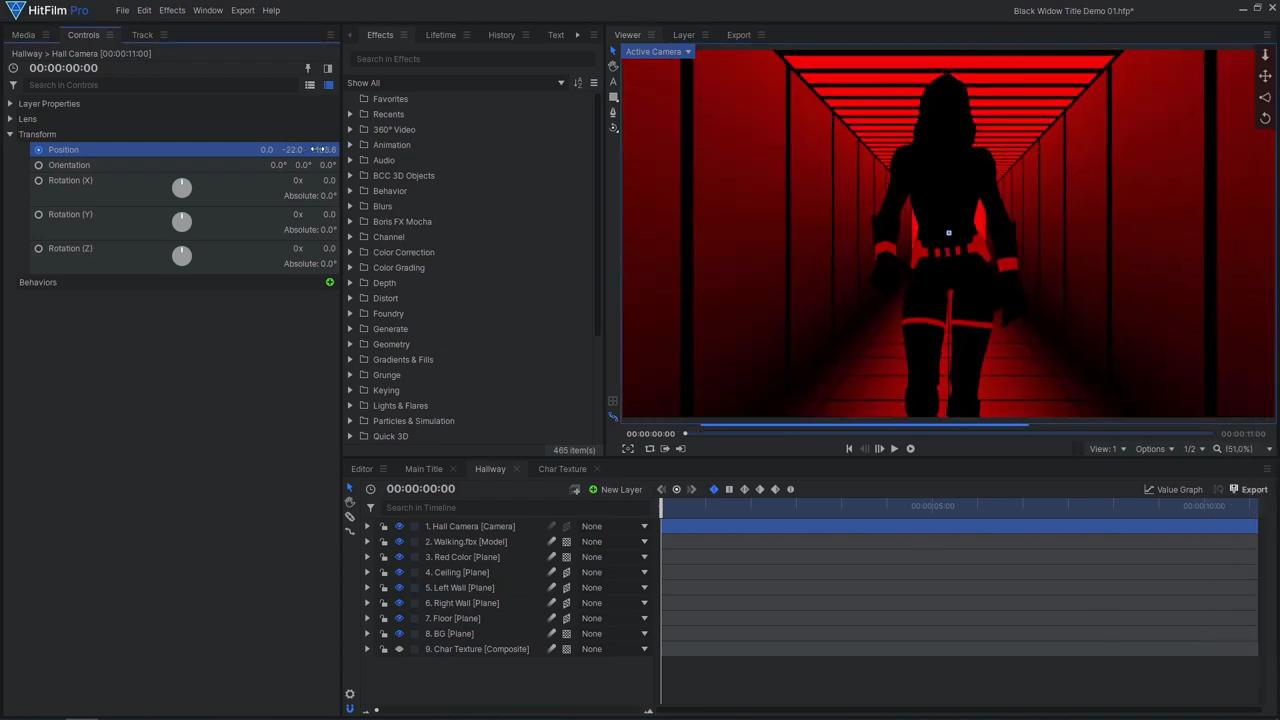 How to create an epic Black Widow inspired title sequence - the final model