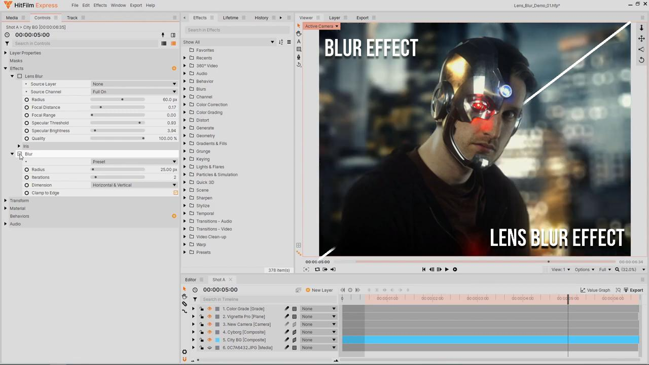How to create realistic lens blur and depth of field using the Lens Blur effect vs the Blur effect