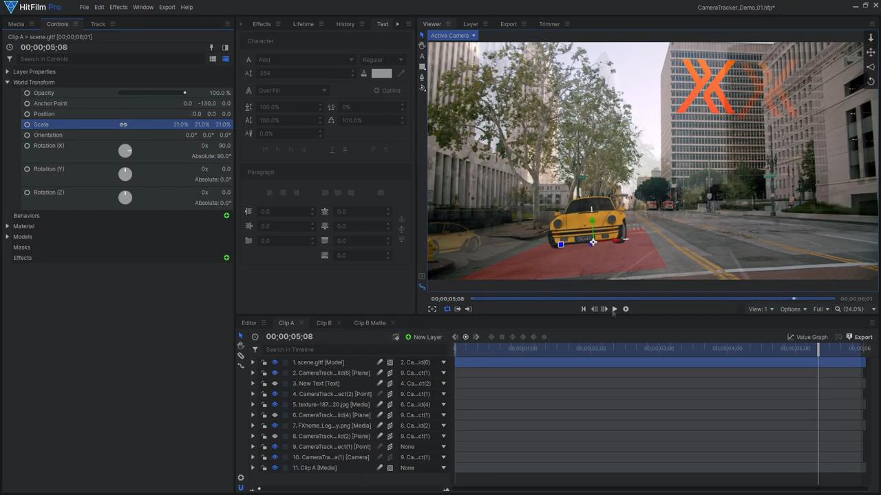 How to use Foundry's 3D Camera Tracker in HitFilm - adding 3D models to the scene
