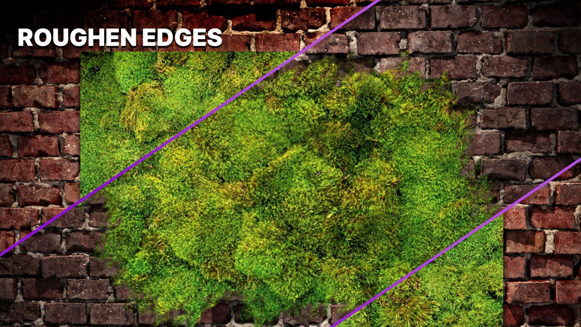 Roughen edges effect in Imerge 2021.3
